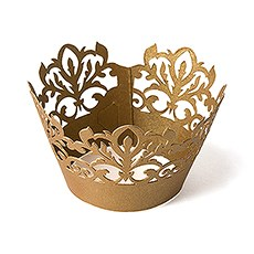 Classic Damask Filigree Paper Cupcake Wrappers (12)