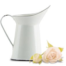 Vintage White Enamelware Pitcher Wedding Favor (4)