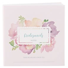 Notepad Favor with Personalized Garden Party Cover - Bridal Party Assortment