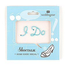 """I Do"" Shoe Talk In Blue Pearls And Crystals"