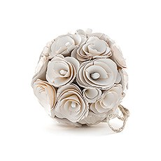 Floral Pomander Ball Made With Wood Curls - Small