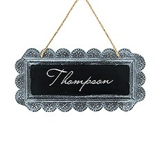 Large Tin Chalkboard Sign - Personalized