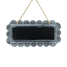 Large Tin Chalkboard Sign - Plain