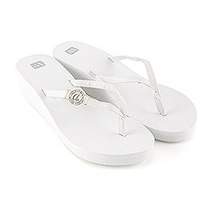 Personalized Wedding Wedge Flip-Flops - Ivory White