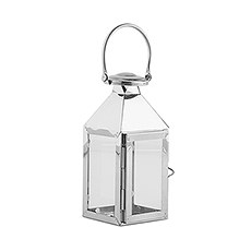 Stainless Lantern with Glass Panels