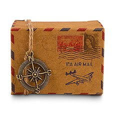 Vintage Inspired Airmail Favor Box Kit (10)