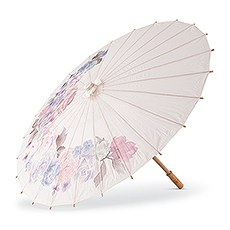 Pretty Paper Parasol with Bamboo Handle - Vintage Floral