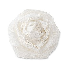 Decorative Rolled Fabric Lace Flowers - Medium (6)