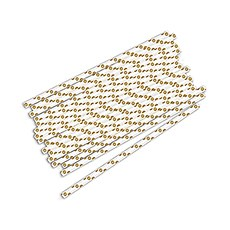 """Sippers"" Polka Dot Metallic Print Paper Straws (75)"