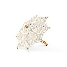 Antiqued Battenburg Lace Parasol - Small