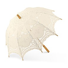 Antiqued Battenburg Lace Parasol - Standard