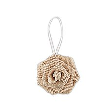 6 Rolled Burlap Flowers - Small