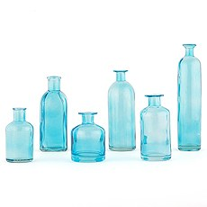 Decorating Glass Bottle Set - Oasis Blue