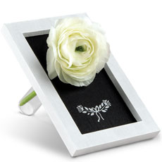 Small Framed Chalkboard with Flower Holder