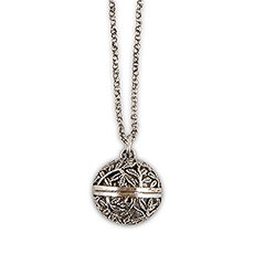 Filigree Silver Locket Necklace