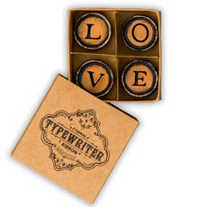 LOVE Vintage Typewriter Key Magnets Favor