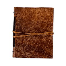 Leather Bound Journal Rustic Style Guest Book