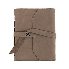 Leather Bound Journal Industrial Style Guest Book