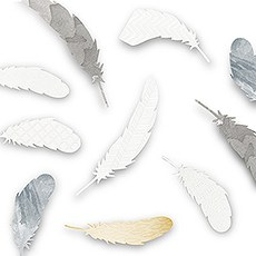 Decorative Paper Feather Assortment (18)