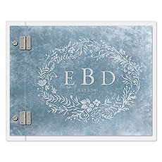 Clear Acrylic Wedding Guest Book - Modern Fairy Tale Etching