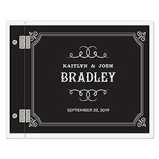 Personalized Polaroid Clear Wedding Guest Book - Chalkboard