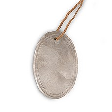 Oval Tin Tags with Jute Hangers (8)