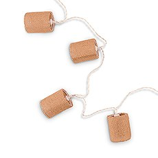 Decorative Battery-Operated LED String Lights - Burlap Shade