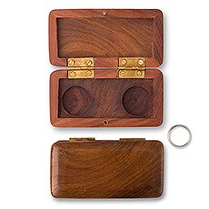 Pocket Size Wooden Wedding Ring Box