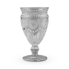 Vintage Style Pressed Glass Goblet in Grey