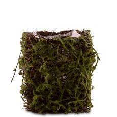 Faux Moss and Wicker Mini Favor Planter with Liner (4)