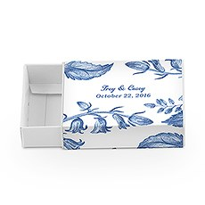 White Drawer-Style Favor Box With Romance Floral Wrap Assortment (8)