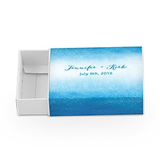 White Drawer-Style Favour Box With Aqueous Wrap (8)