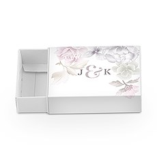 White Drawer-Style Favour Box with Floral Dreams Wrap (8)