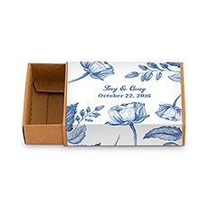 Kraft Drawer-Style Favor Box With Romance Floral Wrap Assortment (8)