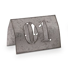 Laser Cut Metal Table Number Set