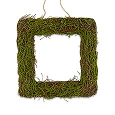 Faux Moss and Wicker Square Frame - Medium
