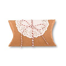 Kraft Favor Box with Lace Wrapper