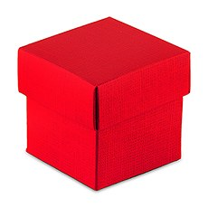 Passion Red Square Favor Box with Lid