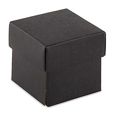 Black Square Favor Box with Lid
