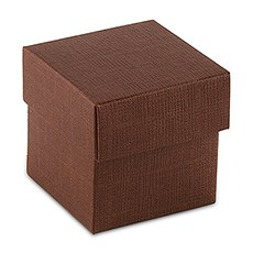 10 Chocolate Brown Square Favor Box with Lid