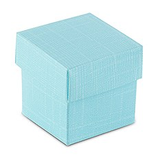 Aqua Blue Square Favor Box with Lid