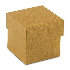 Lustrous Gold Favor Box with Lid (10)