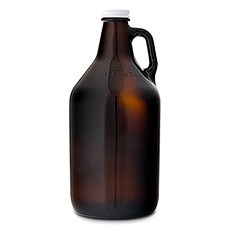 Amber Glass Beer Growler Bar Accessory