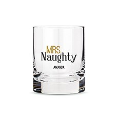Personalized Whiskey Glasses with Mrs. Naughty Print