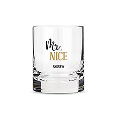 Personalized Whiskey Glasses with Mr. Nice Print