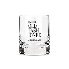 Personalized Whiskey Glasses with Call Me Old Fashioned Print