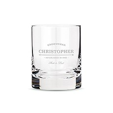Personalized Whiskey Glasses Best Man and Groomsman