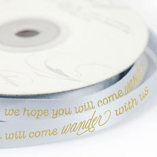 Wanderlust Wedding Message Ribbon