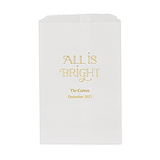 All is Bright Flat Paper Goodie Bag