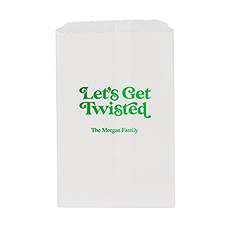 Let's Get Twisted Flat Paper Goodie Bag